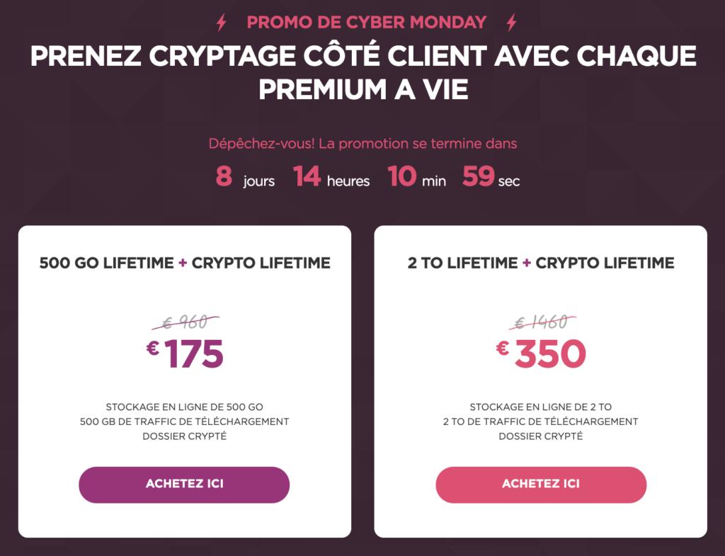 Promotions du Cyber Monday de pCloud